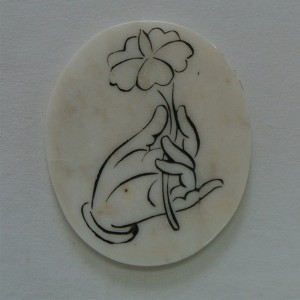 marble coaster natural stone coaster with custom engraved design