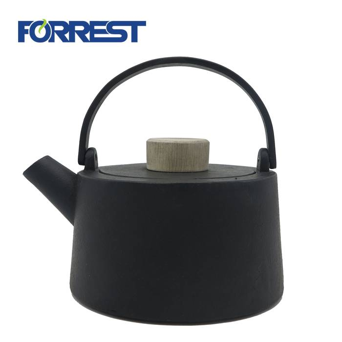 Black Cast Iron tea Kettle 1100ml japanese style teapot cast iron