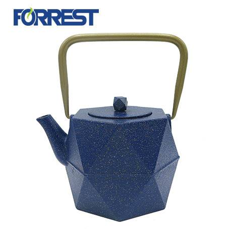 0.9L wholesale  enamel antique chinese cast iron teapotteapot with heater