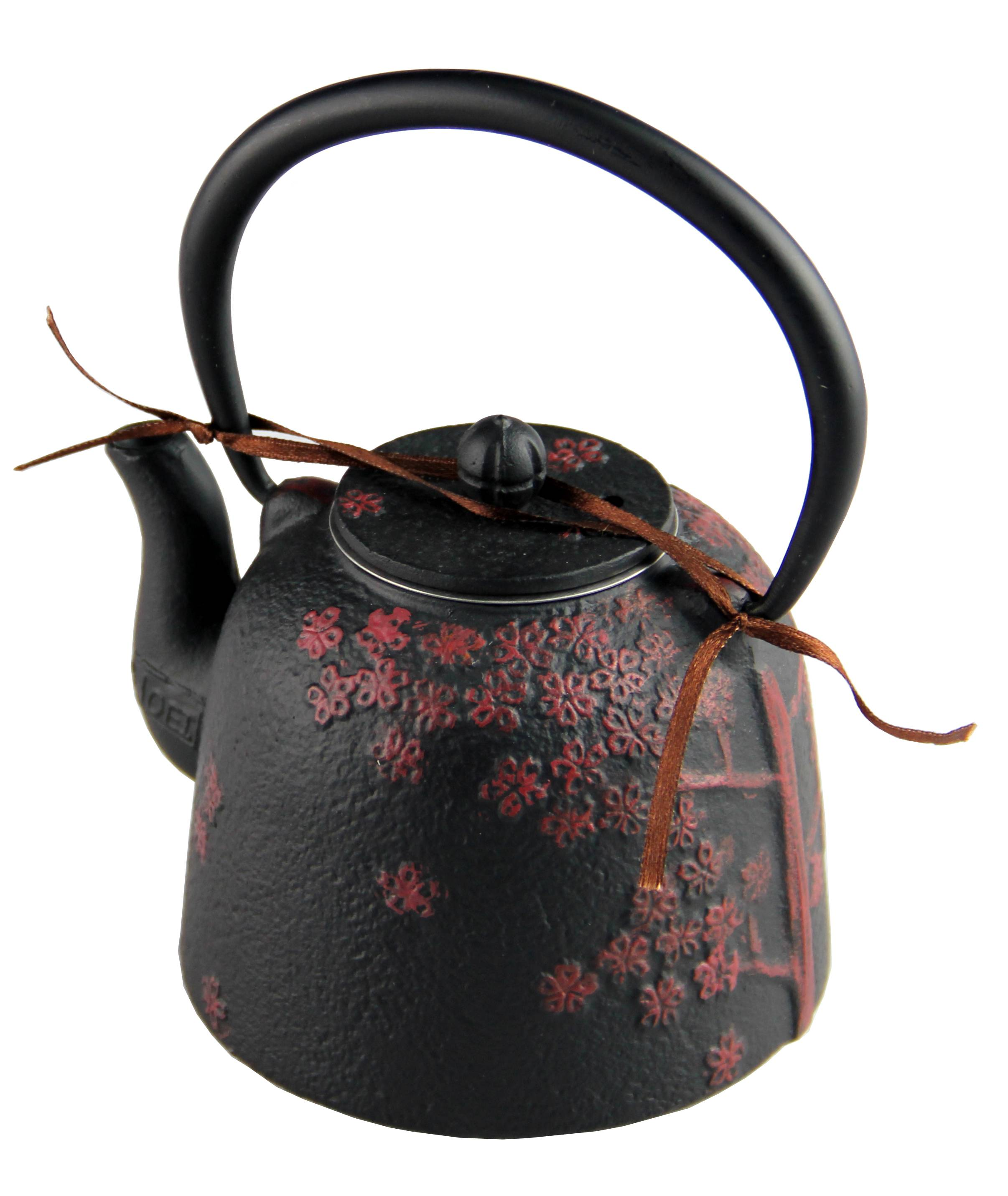 customized Chinese teaware cast iron teapot with trivet