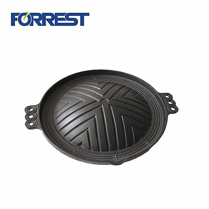 Korean cast iron barbecue charcoal grill pan