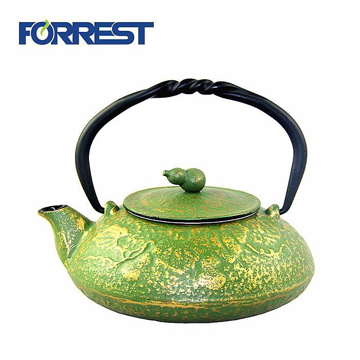 Hot Sale Cast Iron Turjish Double Tea Pot Chinese Tea pot Kettle Set
