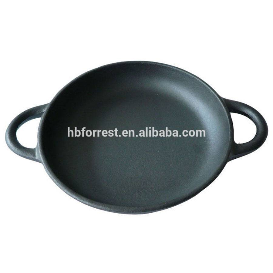 Mini Cast iron charcoal grill pan in round shape
