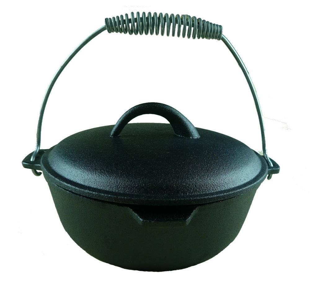 Europe hot wholesale Cast Iron Dutch Oven for camping  FDA Certificate