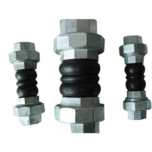 Threaded Type Double Sphere Rubber Expansion Joint with union