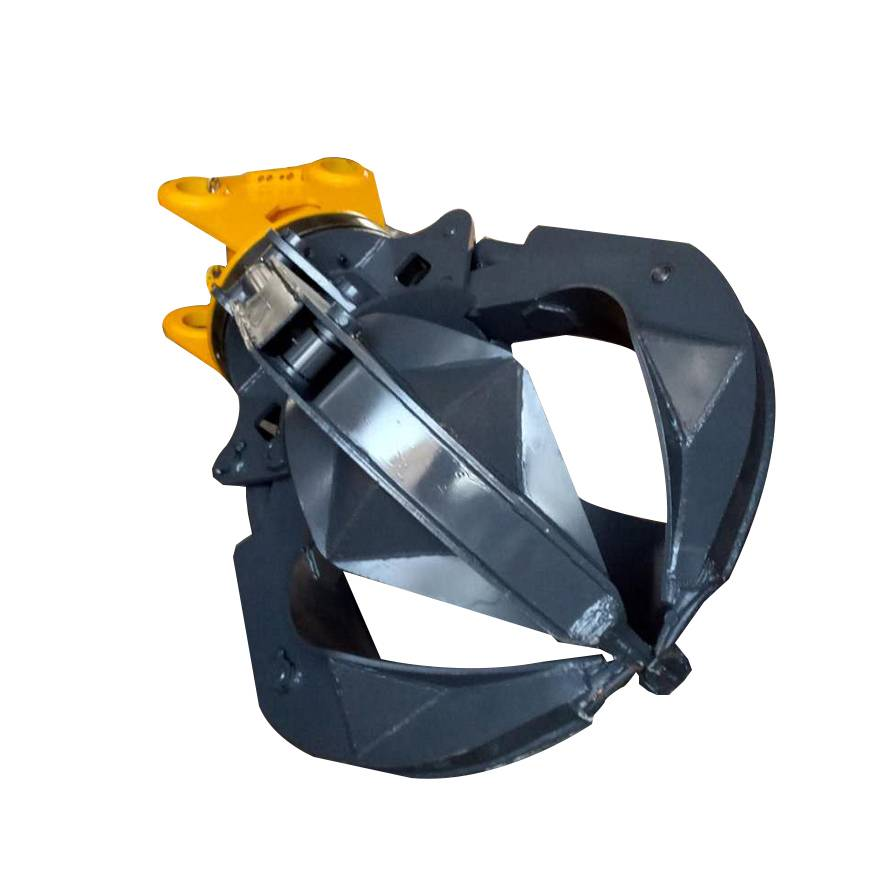 Excavator mechanical grabber orange peel grapples scrap