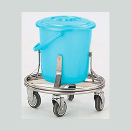 Stainless steel contaminant tub trolley