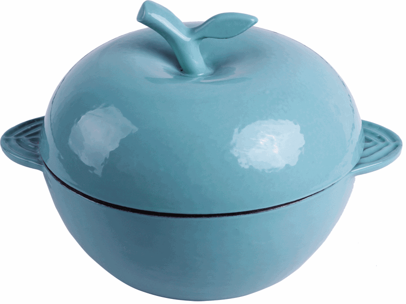 cast iron enameled cooking pots apple pots