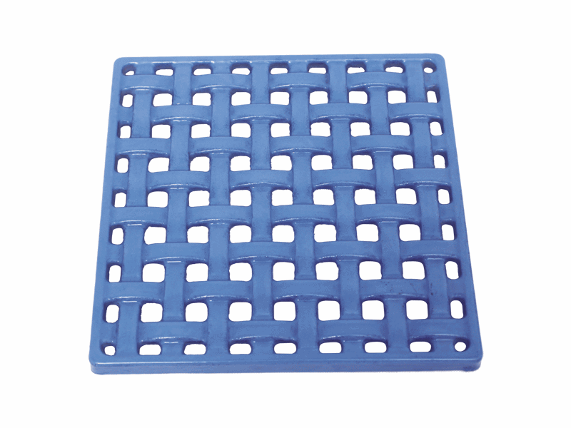 cast ironenameled trivets blue color
