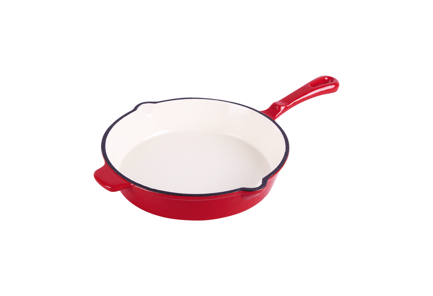 cast iron red enameled fry pans 26cm