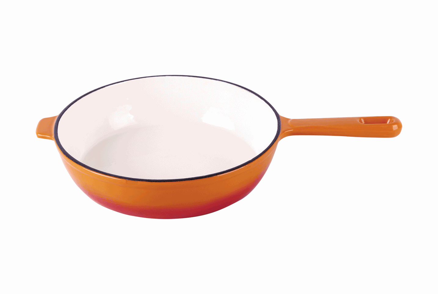 cast iron orange enameled skillet 26cm