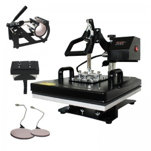 CE Approved 5 IN 1 / 6 IN 1 Combo Multi-functional Rotary Heat Press Machine