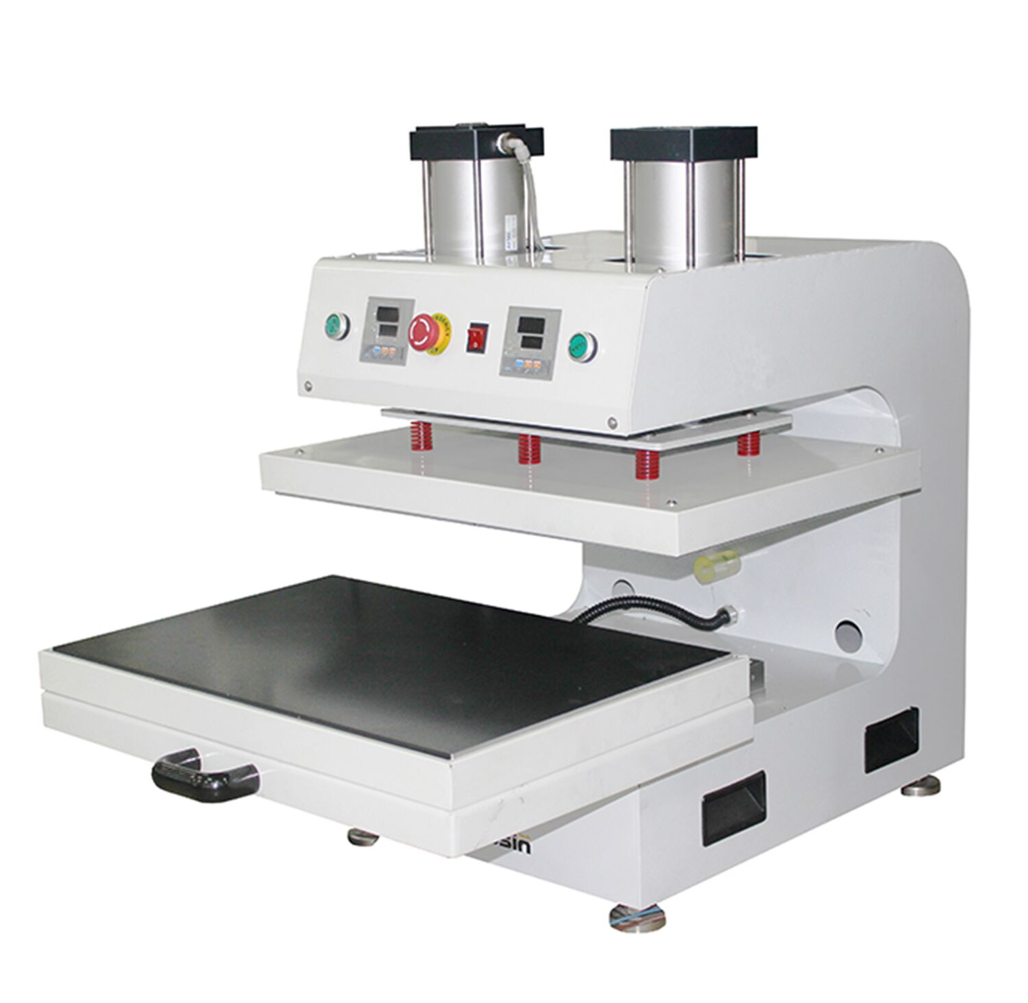 Auplex Large Size Pneumatic Auto Dual Heated Rosin Heat Press Machine with Slide-out Bottom Featured Image