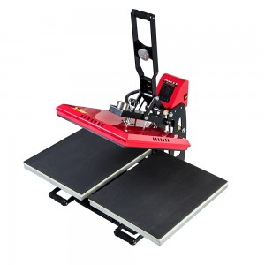 Double Working Station Auto Open T shirt Heat Press Machine