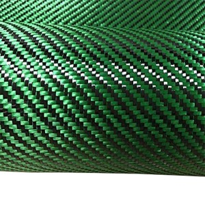 Green Carbon Fiber Fabric