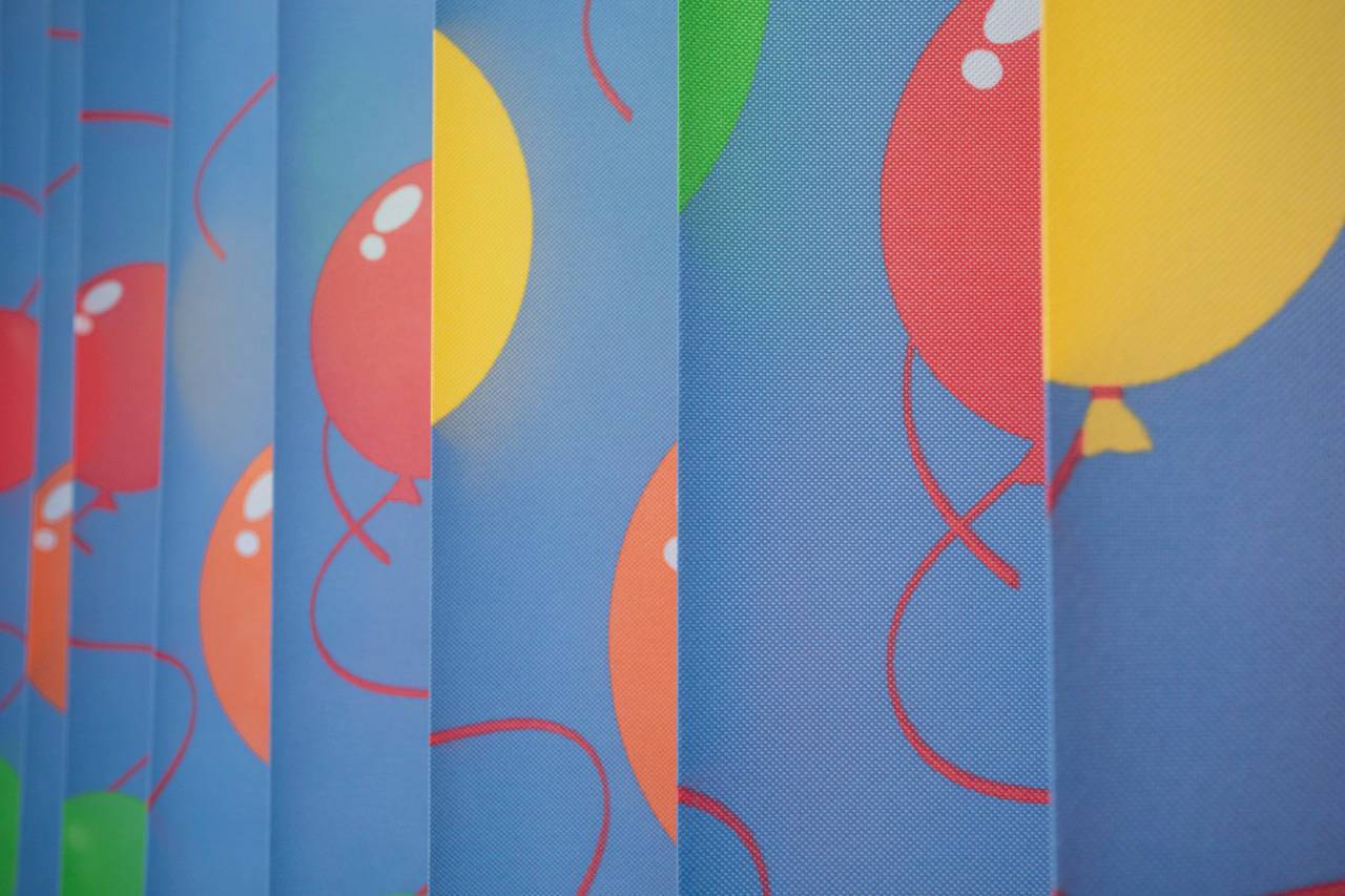 Printed disposable curtains-Balloon Featured Image