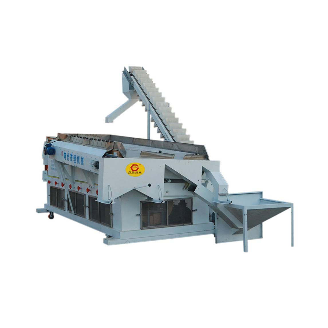 Gravity separator cleaner for beans