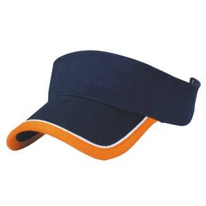 130: heavy brushed cotton sun visor hat