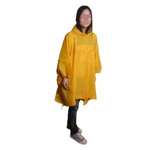 R4003A:economic poncho with pocket