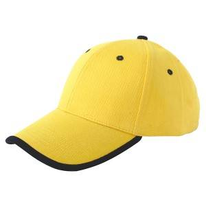 6602: heavy brushed cotton cap,bordered cap