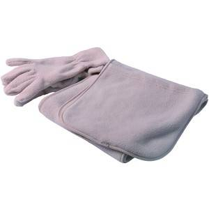 polar fleece glove and scarf,polar fleece set