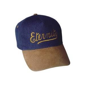 206: 5个面板牛仔裤帽与皮革峰