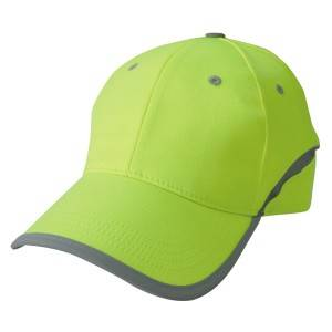 569: reflective fabric cap, 6 panel cap,neon cap