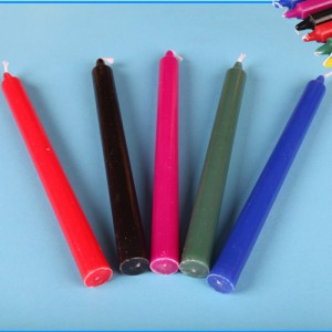 Household color stick candles