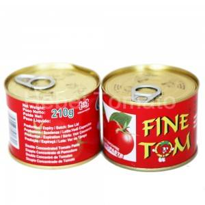Canned tomato paste 210g