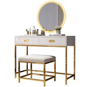 Vanity Set with Touch Screen Mirror
