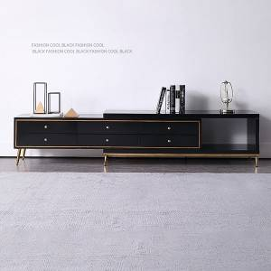 YF-H-905 TV stand with Drawers & Doors in Gold
