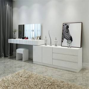 YF-T21 High gloss Large Makeup Vanity +TV stand cabinet
