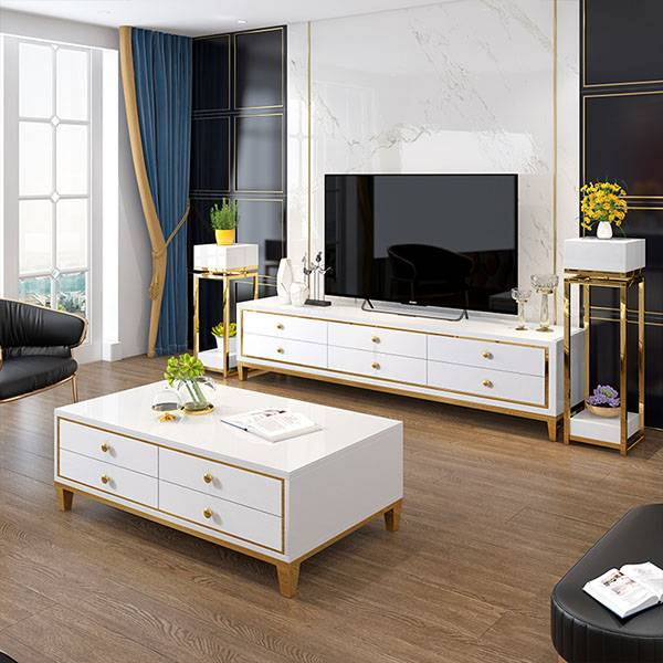 YF-H-700 glossy finish and clean-lined design tv stand Featured Image