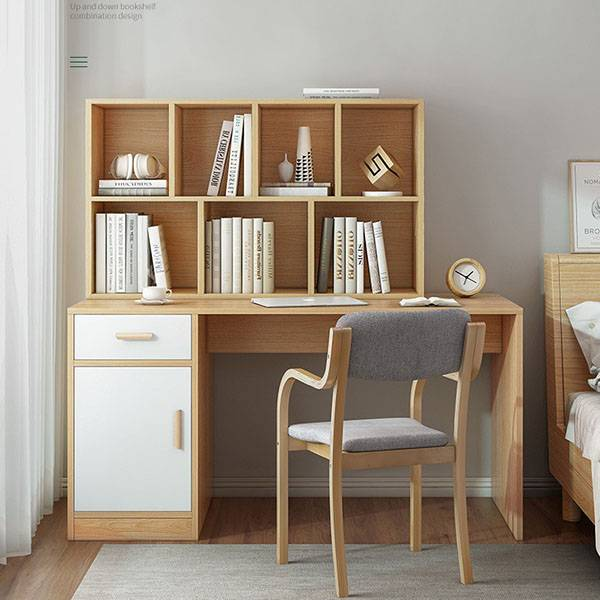 Modern contemporary writing study desk with bookshelf for kids Featured Image