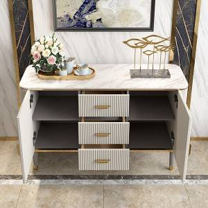 YF-H-805 High End Italian Quilted Designer Marble Buffet