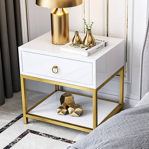 YF-H-201 Home Nightstand Side Table white Featured Image
