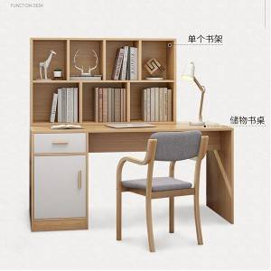Modern contemporary writing study desk with bookshelf for kids