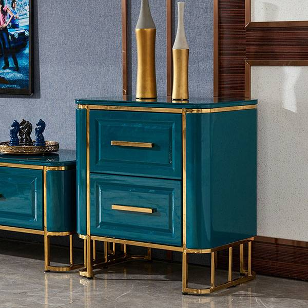 YF-H-208 2 Drawer Nightstand Modern Side Table Featured Image