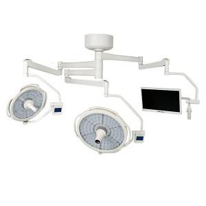 LEDD500/700C+M Ceiling LED Double Dome Operating Room Light with Video-Camera