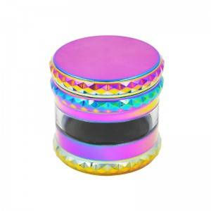 63MM/2.5Inch Colorful Herb Grinder 5 piece Zinc Alloy Grinder