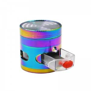 63MM/2.5 Inch Herb Grinder 4 Pieces Zinc Alloy Grinder with Drawer