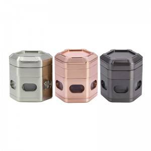 60MM/2.4 Inch Magnetic Grinder Hexagon 4 Piece Zinc Alloy Spice Grinder