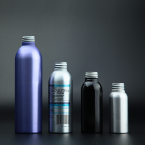 Easy make printing spraying atomizer cosmetic aluminum bottle packaging in 300ml