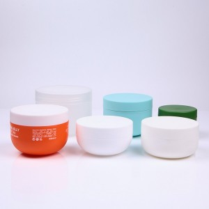 120ml 200ml 240ml 300 ml 500ml Oval shape matte surface PP plastic hair cream jar, hair mask jar.