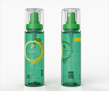 Semi-transparent spray bottle