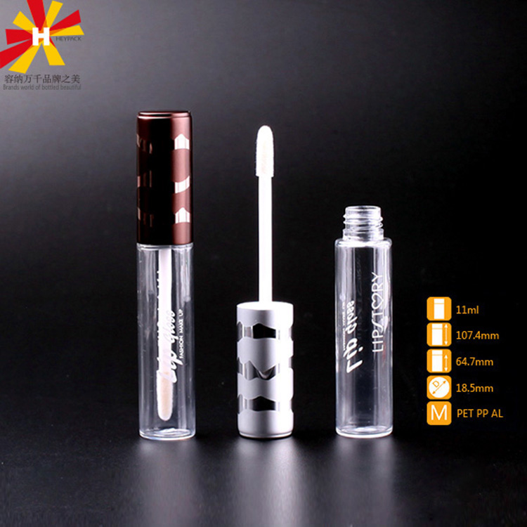 Cost-effective simple style Transparent PET lip gloss tube 10ml 5ml