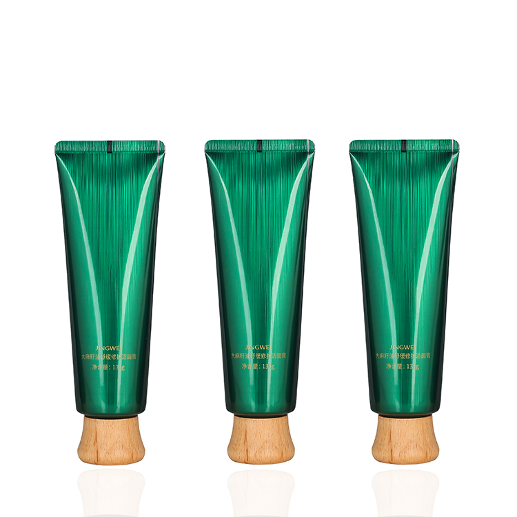 120ml Round Bamboo top green laminated tube packaging