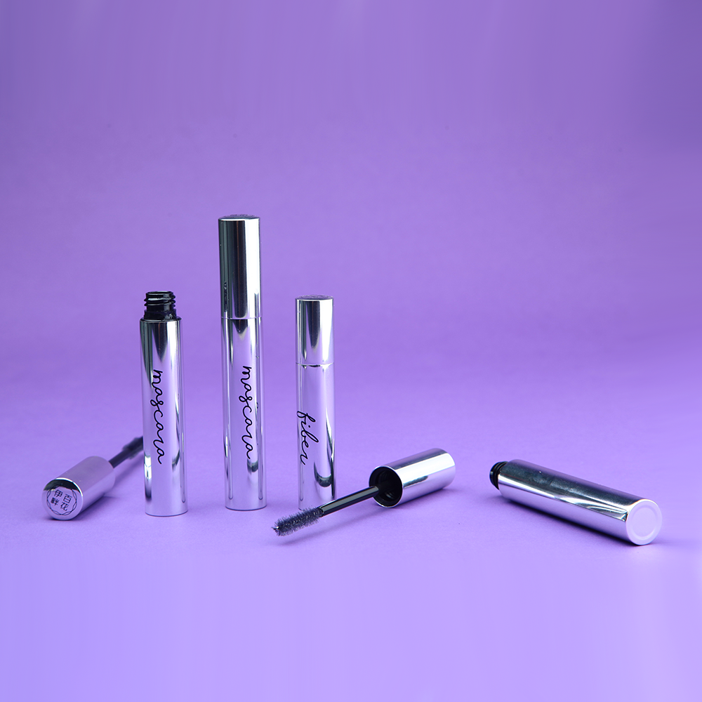 Chroming Silver custom eyelash wand tube container