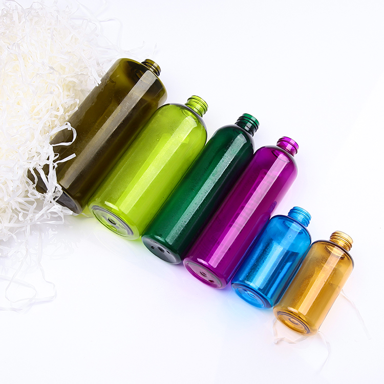 cosmetic PET plastic empty bottles with different solid color options