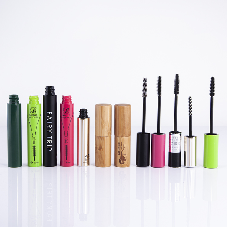 Laser engraving surface plastic + bamboo cosmetic tube